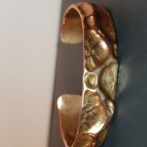 Custom hand made copper cuff bracelet